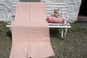 Pale Pink Welsh Blanket